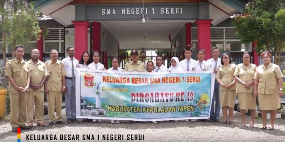 Ucapan HUT Kabupaten Kepulauan Yapen Yang KE-49, SMA 1 NEGERI