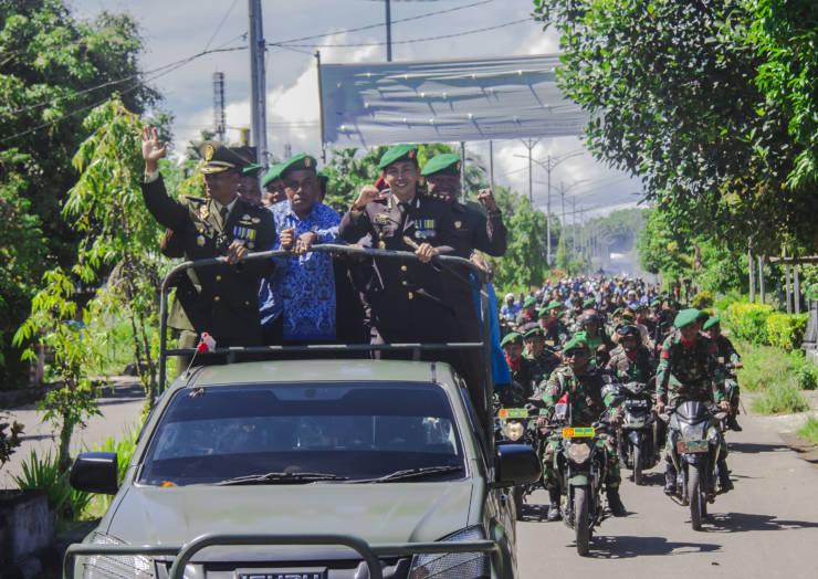 UPACARA HIT TNI KE 73 TAHUN 2018 MENGUSUNG TEMA PROFESIONALISME TNI UNTUK RAKYAT DAN DIRANGKAI DENGAN BULAN ELIMINASI PENYAKIT KAKI GAJAH
