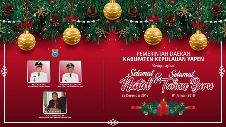SELAMAT NATAL 25 DESEMBER 2019 & SELAMAT TAHUN BARU 01 JANUARI 2019
