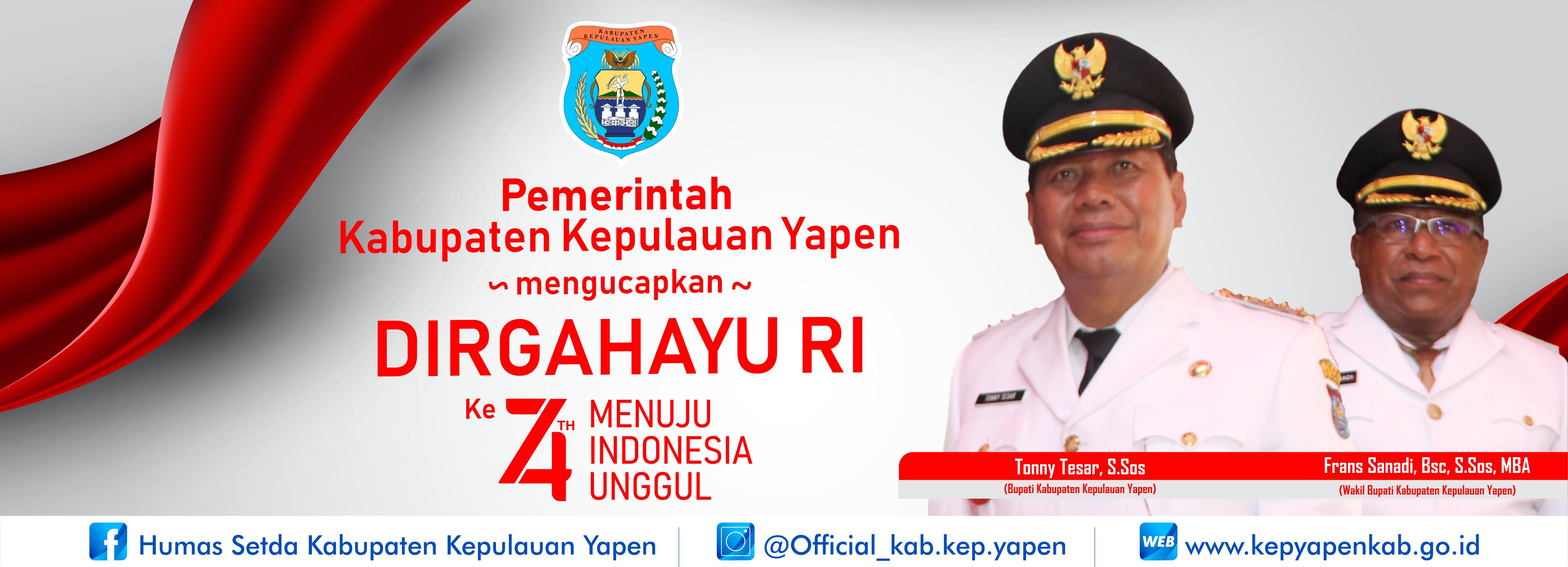 hut republik indonesia ke 74